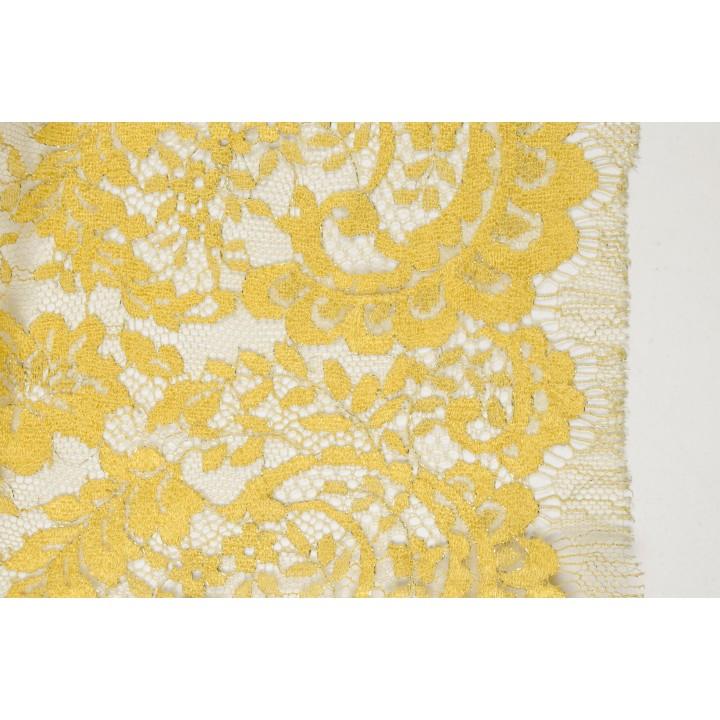Ярко-желтое шантильи с люрексом
