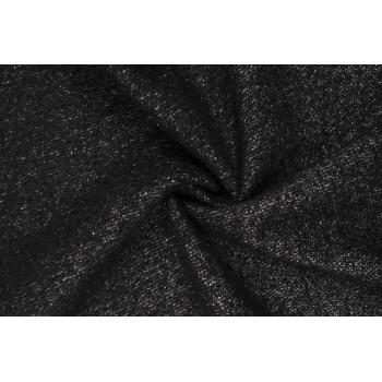 Черный мохер с вплетенными белыми нитями хлопка