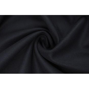 Гладкая пальтовая шерсть цвета Темная ночь