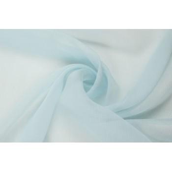 Шифон-креш нежно-голубого оттенка