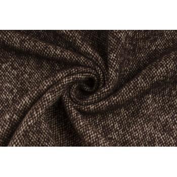 Коричневая пальтовая ткань с мягким мохером