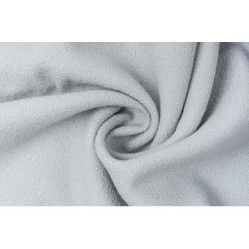 Тонкая пальтово-костюмная ткань с зернистой поверхностью серо-голубого оттенка