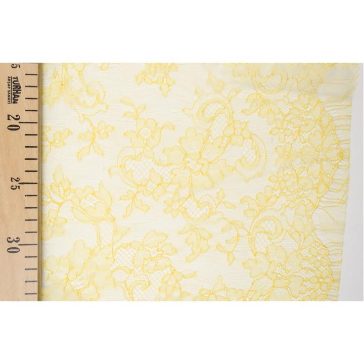 Кружево Solstiss яркого желтого цвета