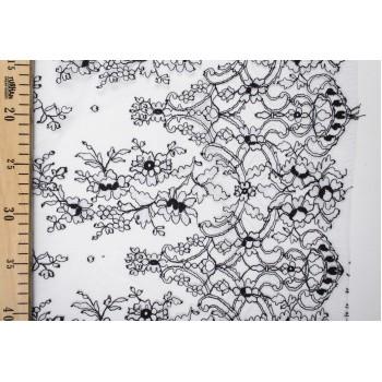 Эксклюзивное шантильи в черно-белом цвете