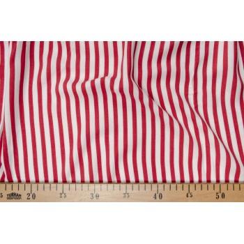Мягкий штапель в красно-белую полоску