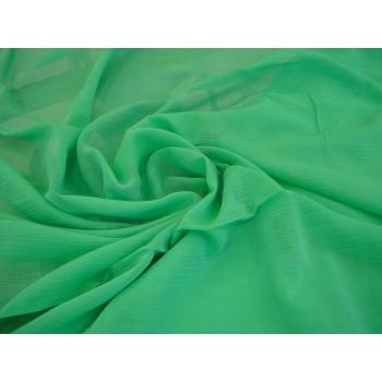 Маркизет-крэш ярко-зеленого цвета