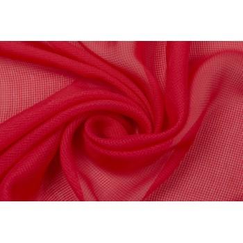 Ярко-красный шелк с мелкой клеткой