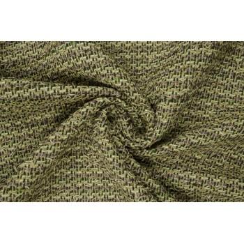 Шанель из хлопка и шерсти красивых зеленых оттенков