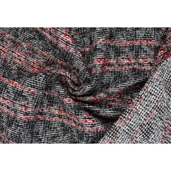 Мягкая ткань, черно-красная гамма с полоской