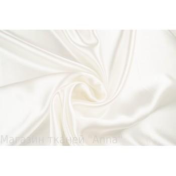 Плательный Кади с атласным блеском в молочном цвете