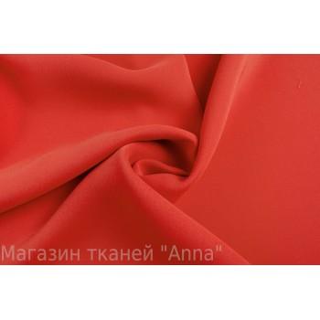 Плотный Костюмный кади ярко-красного цвета