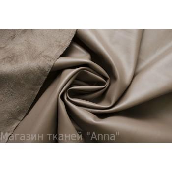 Кожзам цвет - бежевый, ткань плотная, изнаночная сторона под Замшу