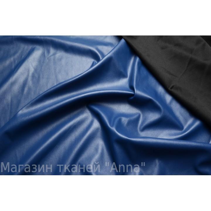 Тонкий кожзам красивого синего цвета