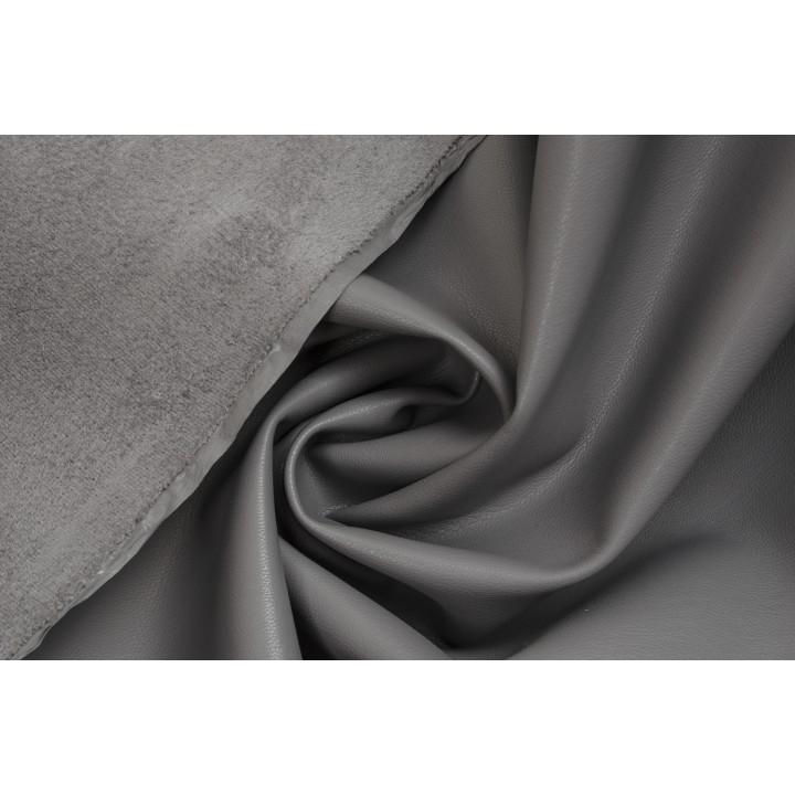 Серый (мышиный) кожзам для пошива одежды