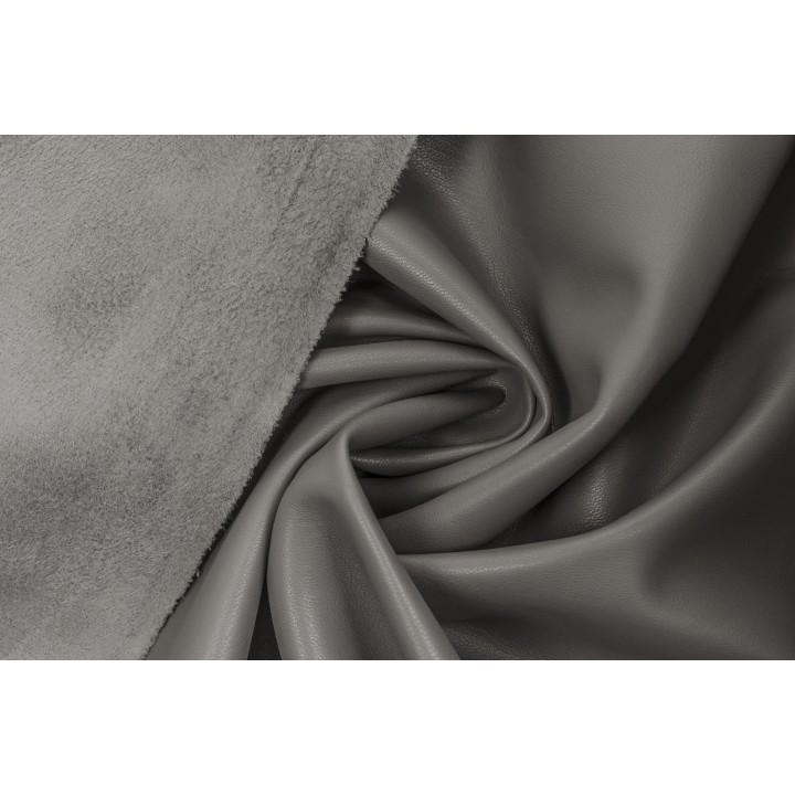 Серый (с бежевым оттенком) кожзам для пошива одежды