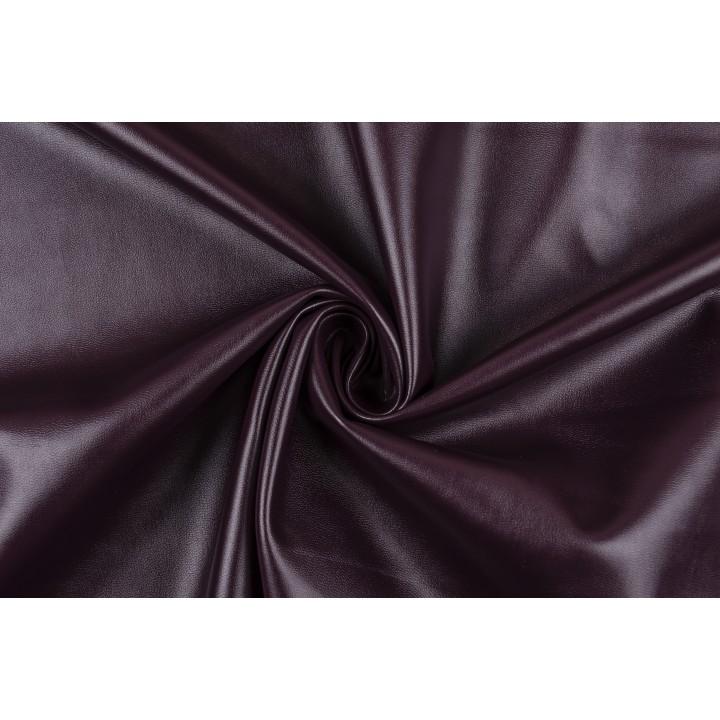 Экокожа стрейч темно бордового цвета