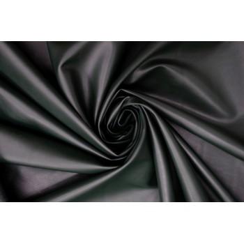 Кожзам для одежды в темном зеленом цвете