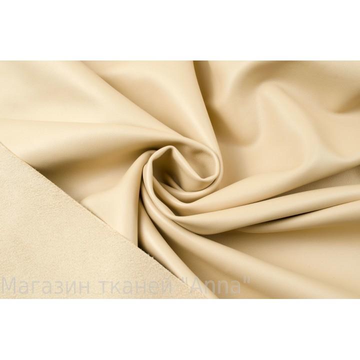 Кожзам плотный костюмно-плательный -цвет айвори