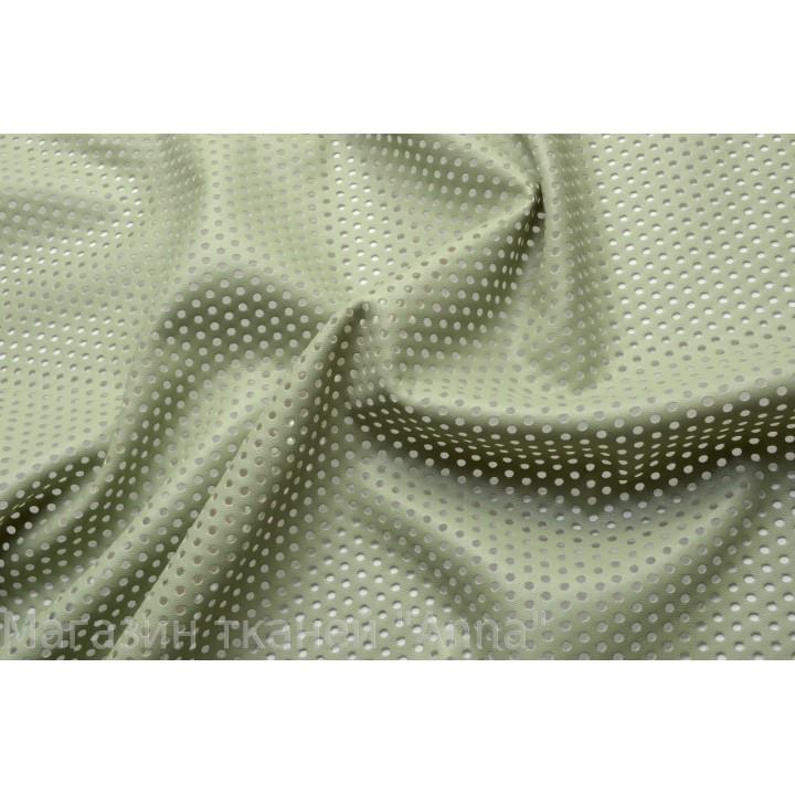 Светло-оливковый кожзам для пошива одежды
