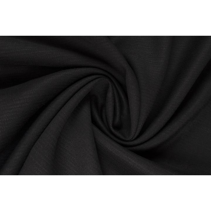 Черная вискоза для платья и костюма