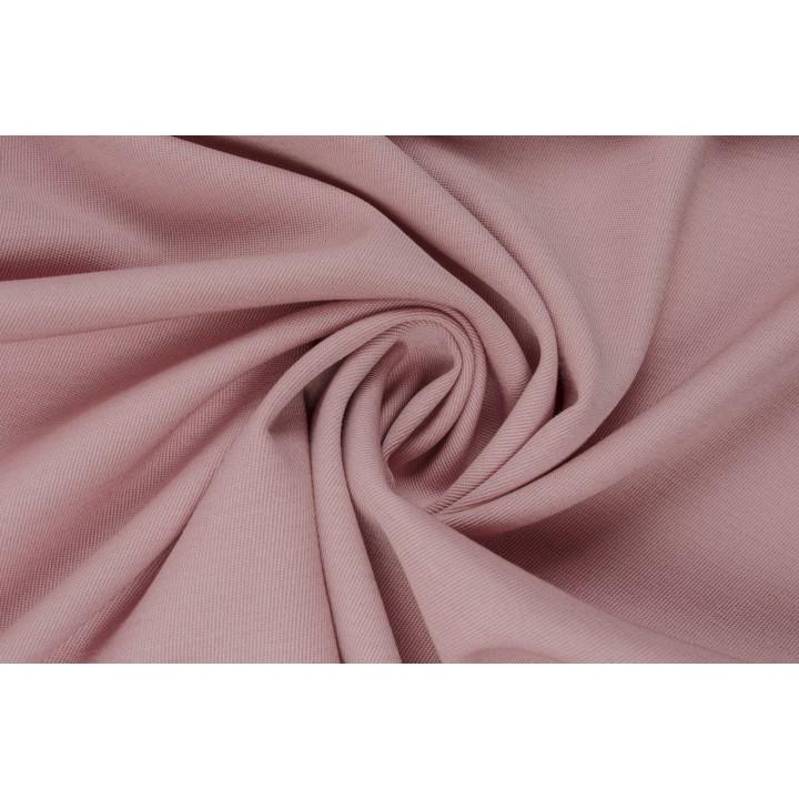 Светло-розовая костюмная ткань на основе вискозы