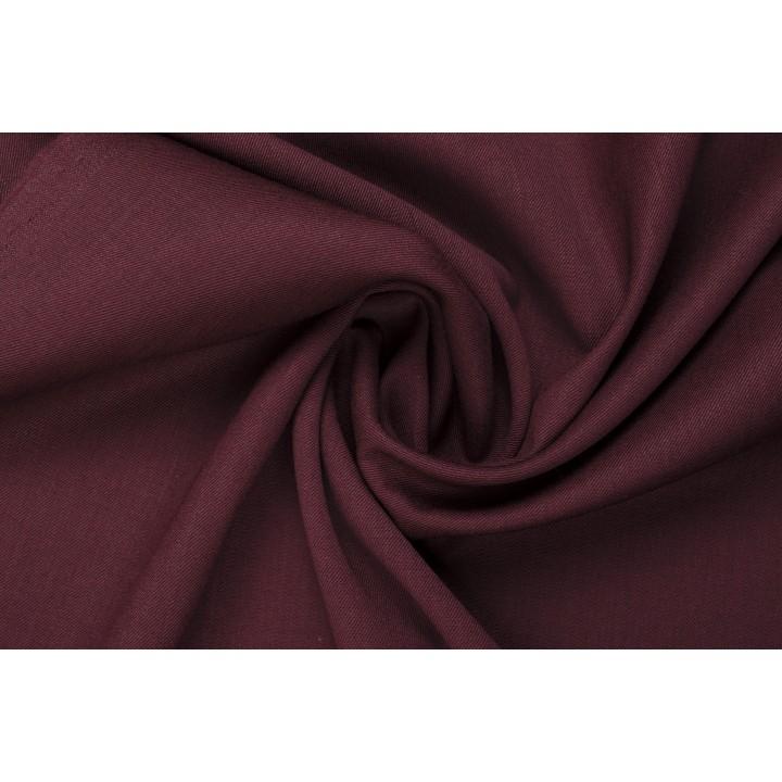 Костюмно-плательная шерсть цвета Марсала