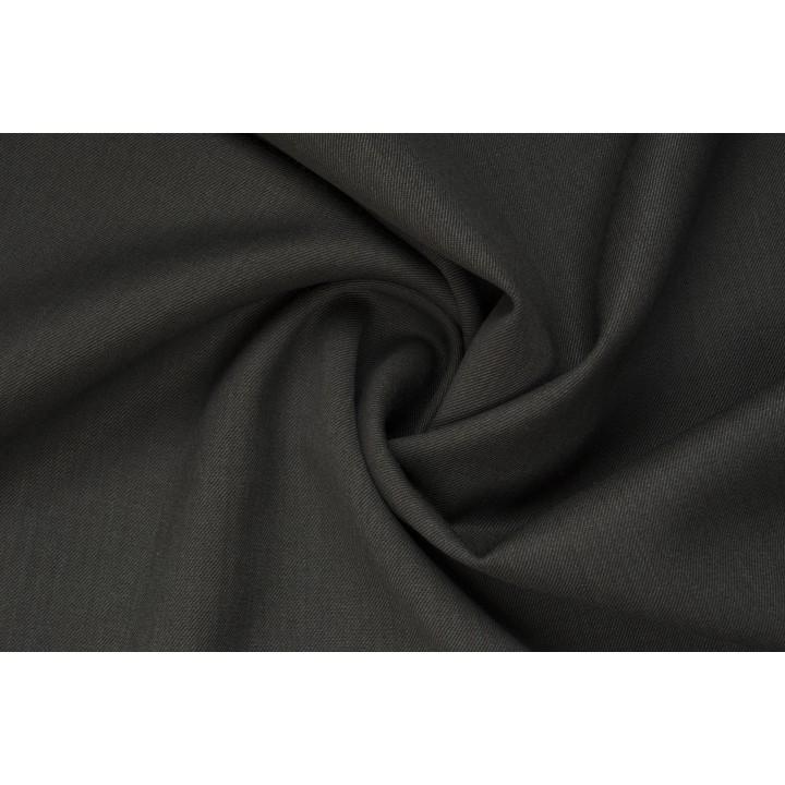 Темно-серая шерстяная ткань для платья или костюма