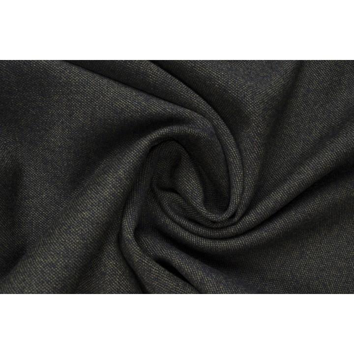 Шерстяная ткань с переплетением темно-синих и оливковых нитей