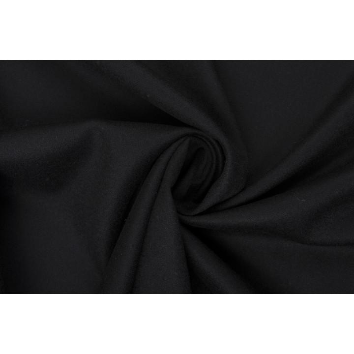 Черная тонкая шерсть-стрейч отличного качества