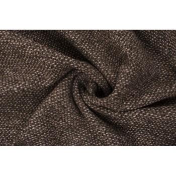 Пальтовая шерсть букле с переплетением коричневых и бежевых нитей