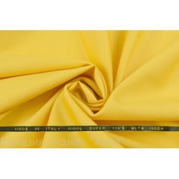 Костюмная шерсть Versace super 120 яркого желтого оттенка