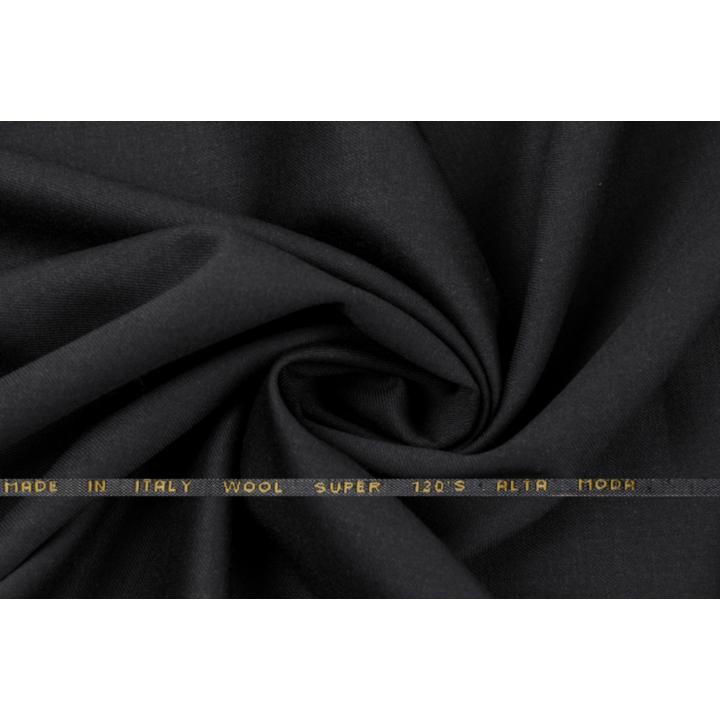 Черная костюмная плательная шерсть super 120