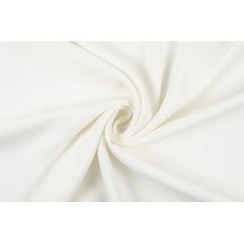 Мягкая молочная плательная ткань крепового плетения