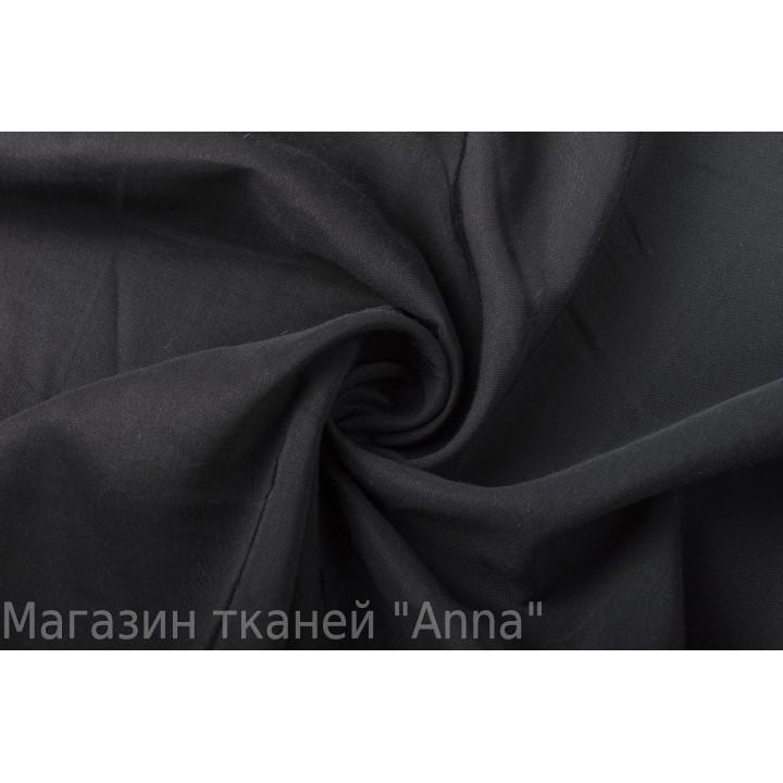 Тонкая черная плательная ткань из вискозы