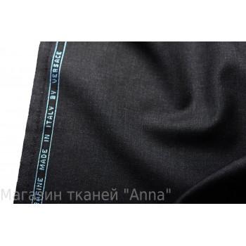 Темно-серая костюмно плательная шерсть Versace super 120