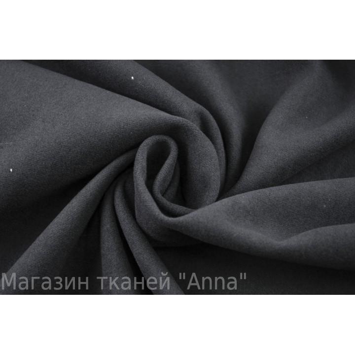 Черная костюмная ткань на хлопковой основе
