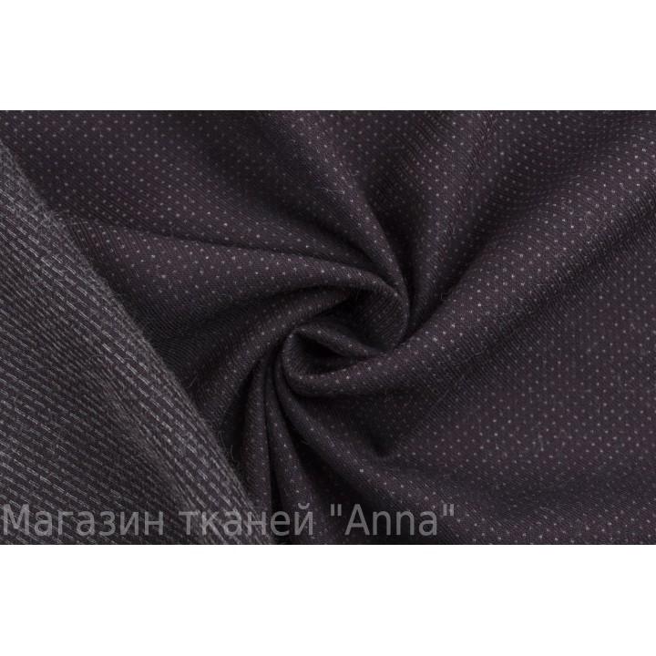 Бордовая костюмная ткань в мелкую точку серого цвета