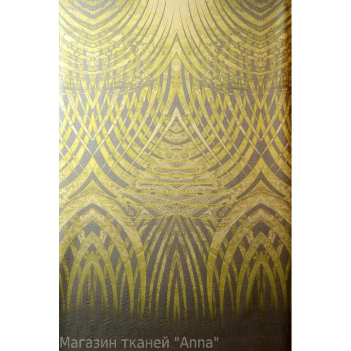 Ткань отрезается купонами длиной 1,4 м - абстракция в зеленых тонах