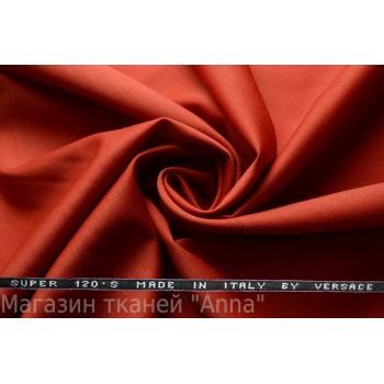 Костюмная шерсть Versace super 120 - кирпичный