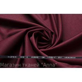 Костюмная шерсть Versace super 120 - темно-бордовый