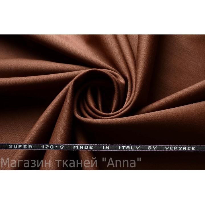 Оттенок темно коричневого, мягкая тонкая костюмная шерсть.