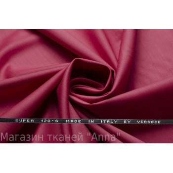 Костюмная шерсть Versace super 120 - темно-розовый