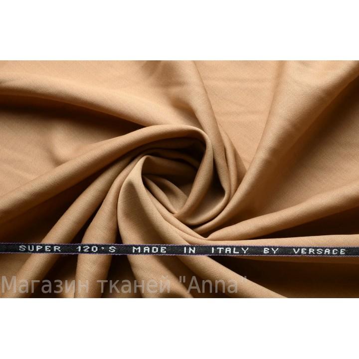 Костюмная шерсть Versace super 120 - темно-бежевый
