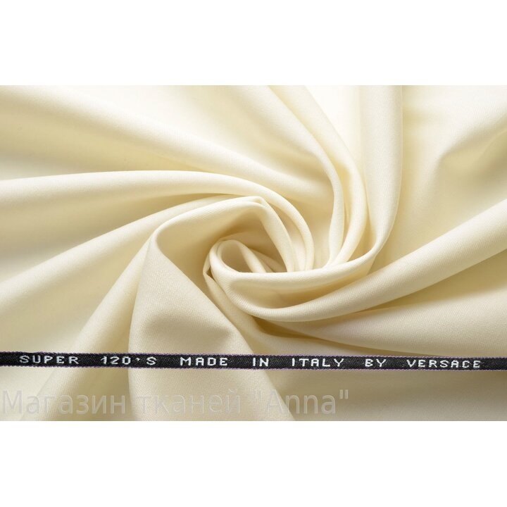 Костюмная шерсть versace сливочного цвета