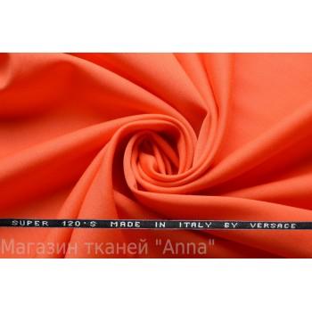 Оранжевая шерсть Versace super 120