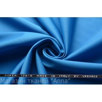 Костюмная шерсть Versace super 120 ярко-синего цвета