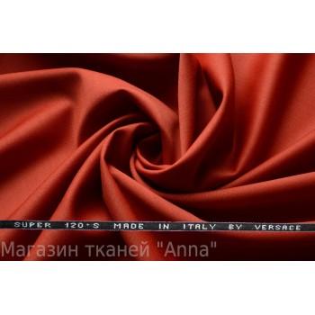 Костюмная шерсть Versace super 120 темно-рыжего цвета