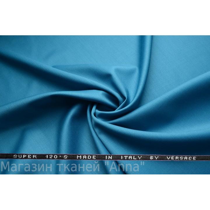 Синяя костюмная шерсть Versace