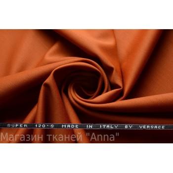 Костюмная шерсть Versace super 120 - оттенок оранжевого