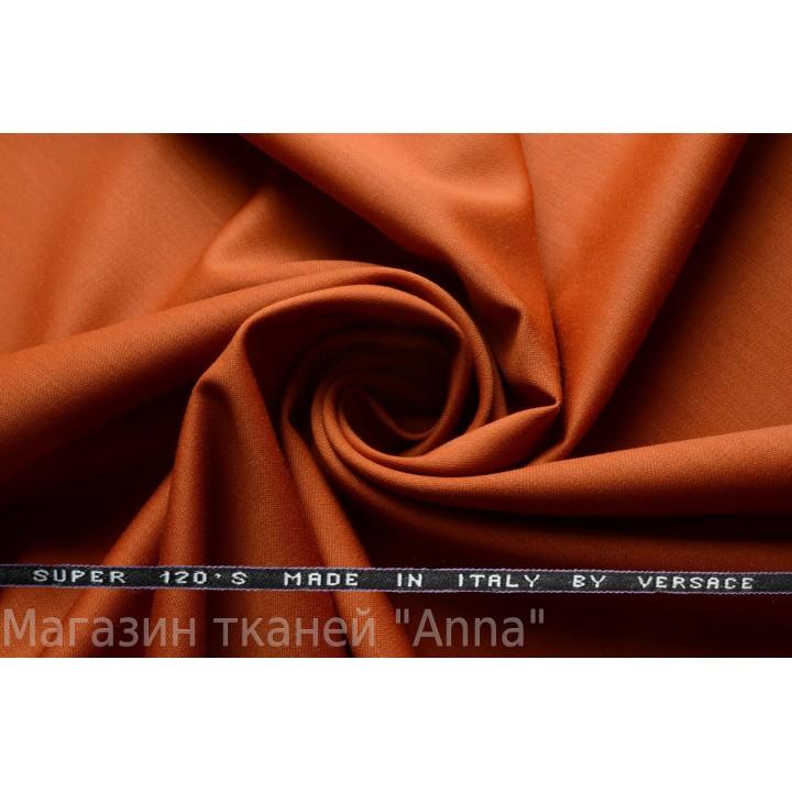 Оттенок оранжевого - краснобуро-оранжевый, мягкая тонкая костюмная шерсть.